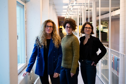 Anna Lund, Rebecca Brinch, Ylva Lorentzon. Photo: Leila Zoubir/Stockholm University